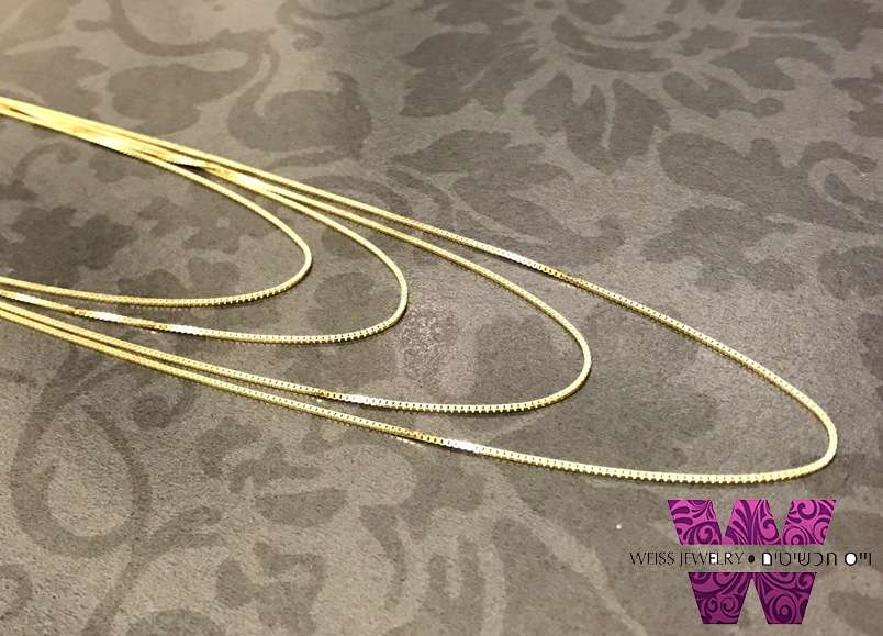 שרשרת זהב קצרה לאישה 14K מדגם ונציה