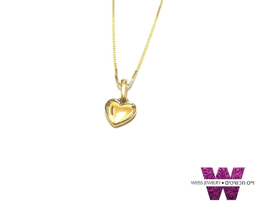 שרשרת זהב לב קטן