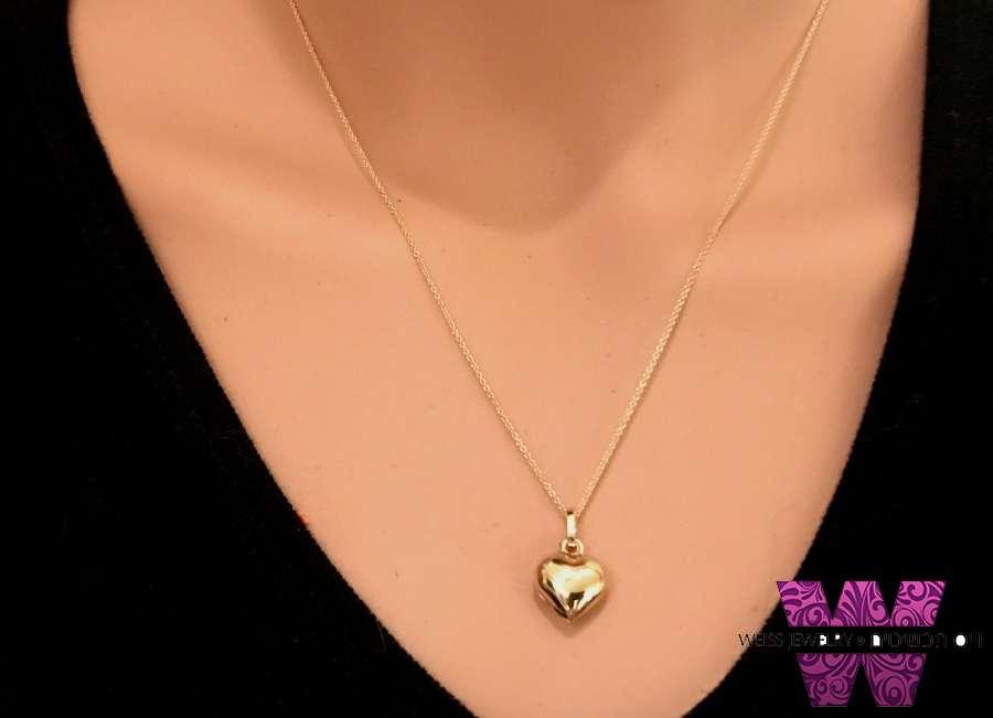 שרשרת זהב מקסימה עם תליון לב קטן תפוח