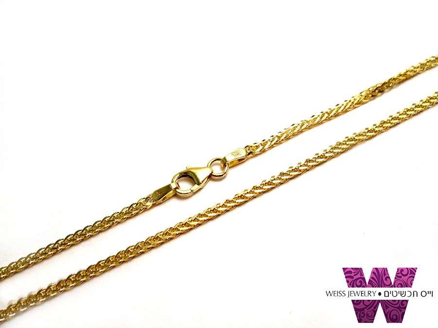 שרשרת זהב שיבולת שועל | עד 3 תשלומים ללא ריבית