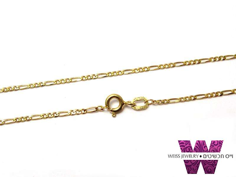 שרשרת זהב מלא פיגרו דקה  14K לנשים וגברים