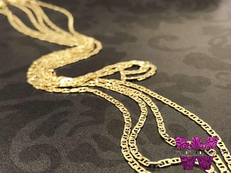 שרשרת זהב 14K גוצ'י לגברים ונשים