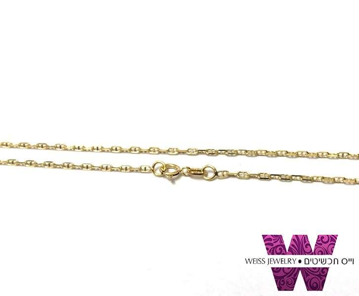 שרשרת זהב מלא גוצ'י מלבנית