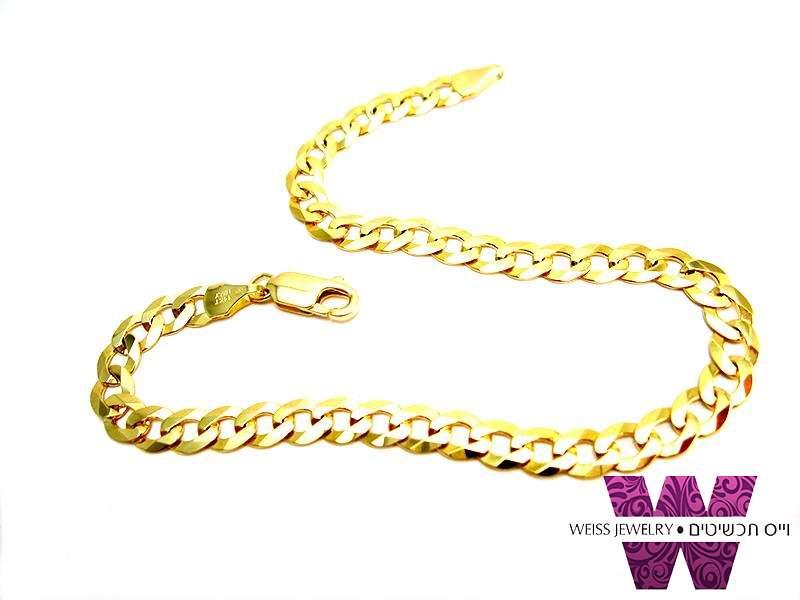 צמיד זהב לגבר | 14K | זהב איטלקי