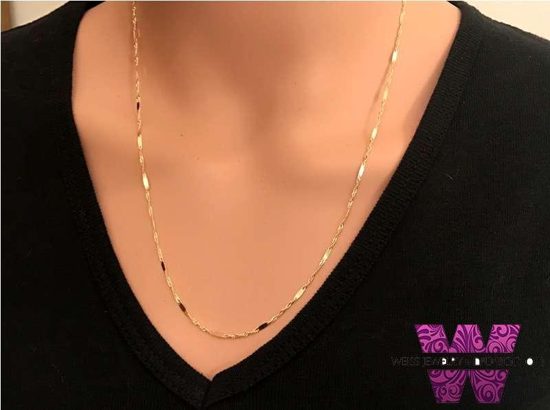 """שרשרת זהב לאישה ללא תליון החל מ 45 ס""""מ אורך"""