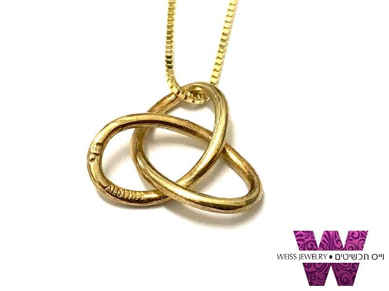 שרשרת זהב אמיתי קשר טורוס (גורדי)