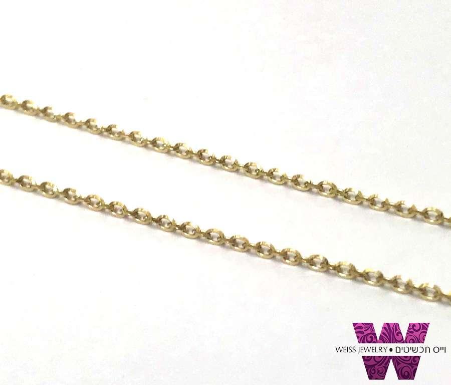 שרשרת זהב עדינה מדגם רולו מבריקה