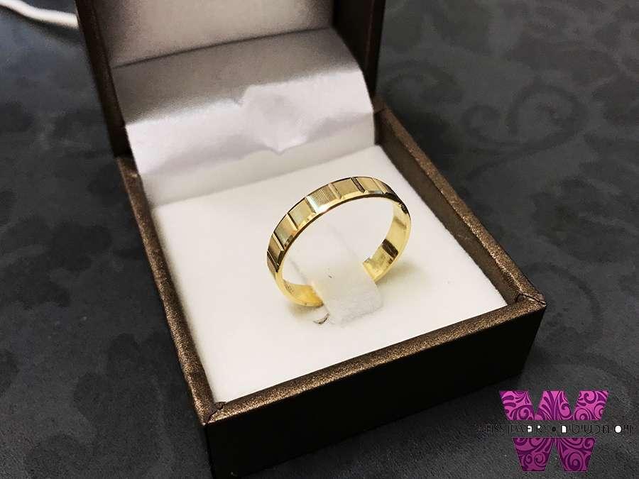 טבעת כסף ציפוי זהב חריטה בסגנון וינטג'