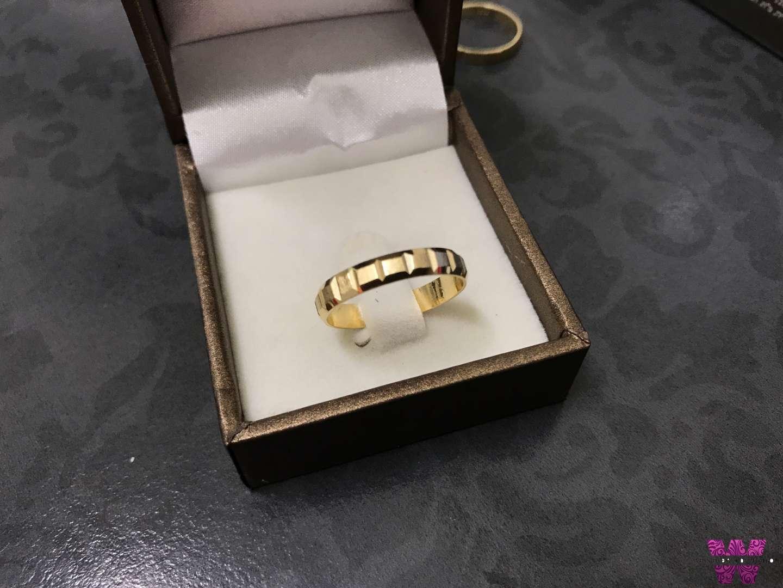 טבעת כסף 925 ציפוי זהב חריטה של פעם