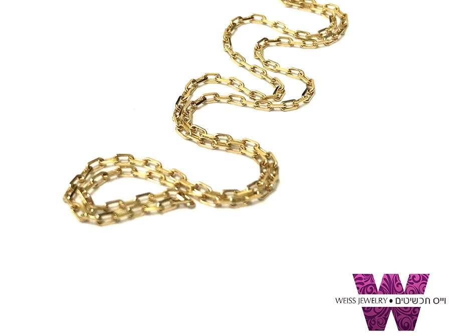שרשרת זהב עדינה ללא תליון מדגם אנקר